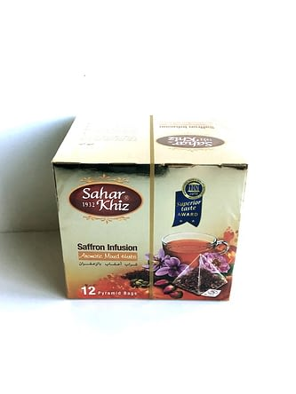Herbal Tea Bag ( Saffron ) – 12 – Saharkhiz